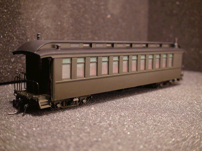 D&RGW OPEN PASSENGER COACH (Painted) Unlettered Pullman Green