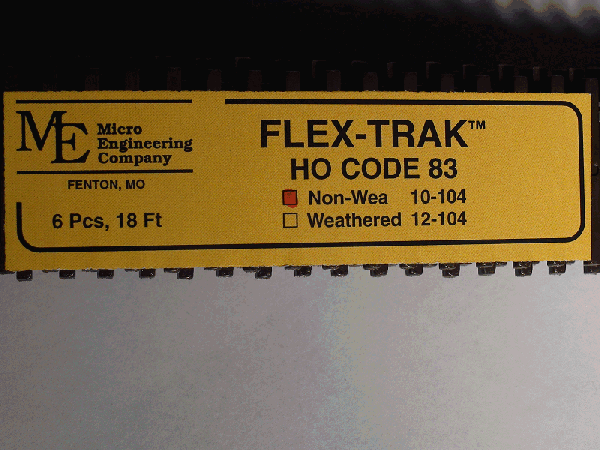 Code 83 Flex-Trak, 6 pcs non-weathered