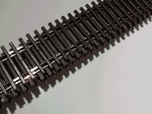 Code 83 Flex-Trak, 6 pcs non-weathered
