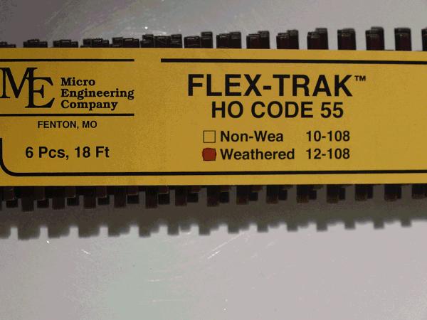 HO-SCALE Code 55 Flex Track, Weathered