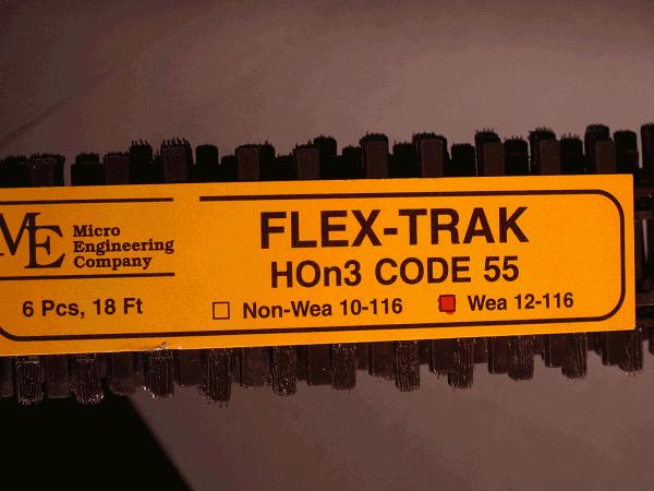 Flex-Trak Code 55 WEATHERED BIGDISCOUNTTRAINS
