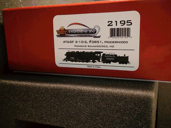 ATSF 3800 Class 2-10-2, 3851, Modernized Version DC/DCC SOUND