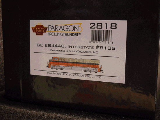 GE ES44AC, NS 8105, Interstate Railroad<br>Heritage Paint