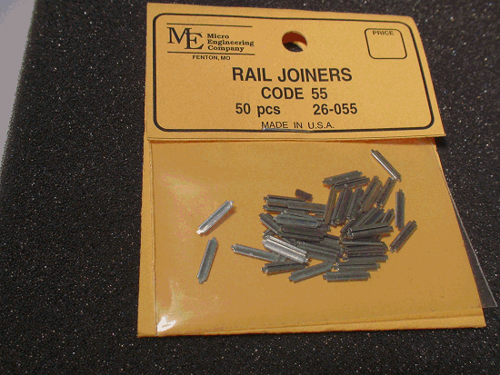 Rail Joiners, Code 55 - 50PCS