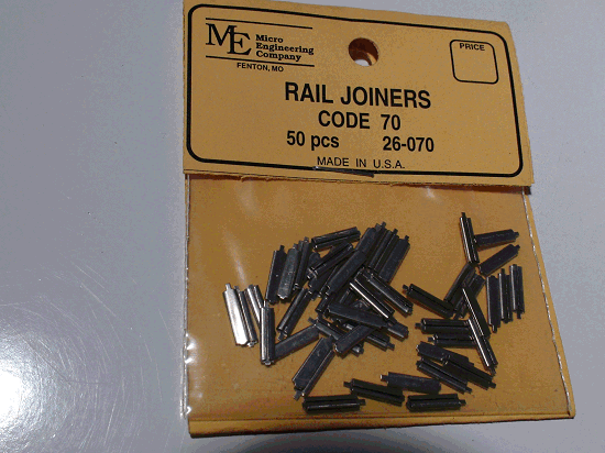 Rail Joiners, Code 70 / 50PCS