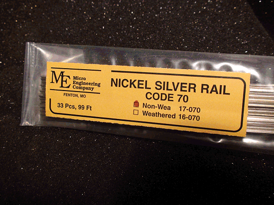 Non-Weathered Rail, Code 70 N.S. 33 pcs 99 ft.