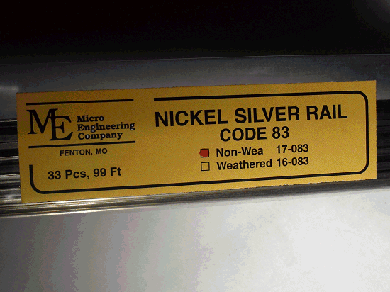 Non-Weathered Rail Code 83 N.S. 33 PCS
