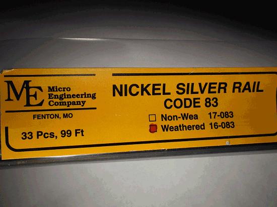 Weathered Rail, Code 83 N.S. 33 PCS