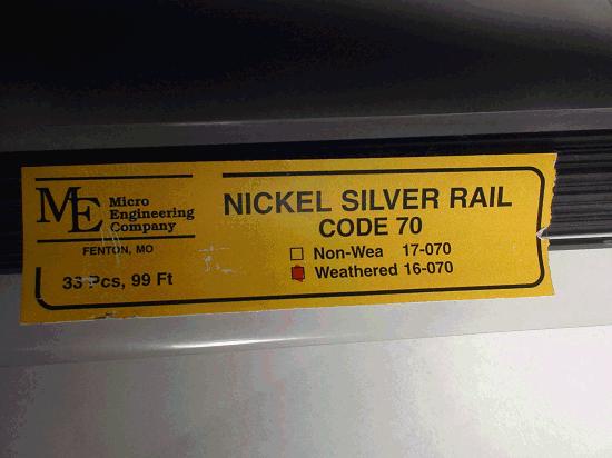 Weathered Rail, Code 70 N.S. 33 pcs 99 ft.