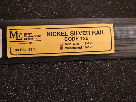 Weathered Rail, Code 125 NICKEL SILVER RAIL