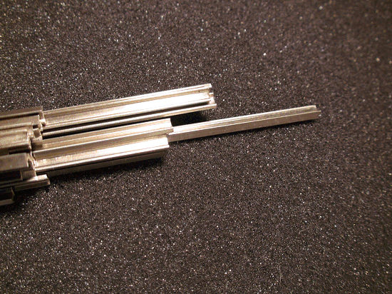 Non-Weathered Rail, Code 148 NICKEL SILVER RAIL