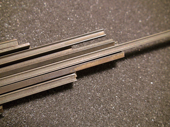 Weathered Rail, Code 148 NICKEL SILVER RAIL