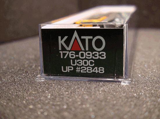 N-SCALE KATO 176-0934 U30C UNI0N PACIFIC ROAD 2861 UP