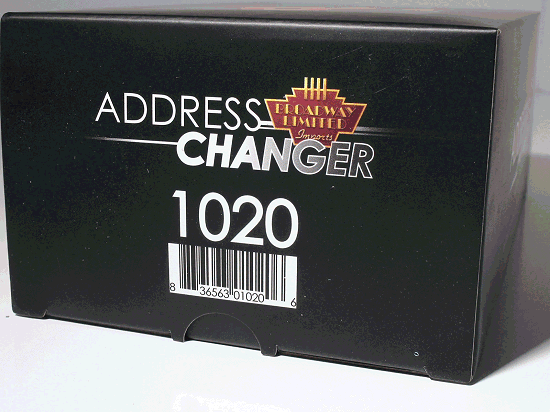 ADDRESS CHANGER Compatible with HO, N, On30,Z Scales
