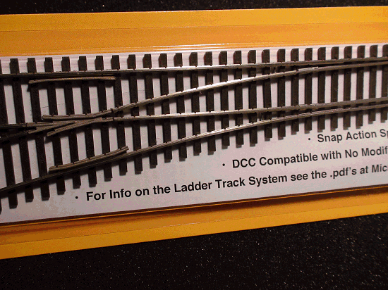 HO LADDER TRACK SYSTEM TURNOUT LH