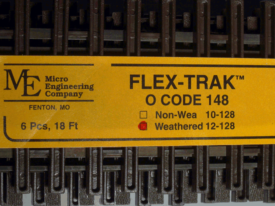 O-SCALE MICRO-ENGINEERING 12-128 FLEX-TRACK CODE 148 WEATHERED