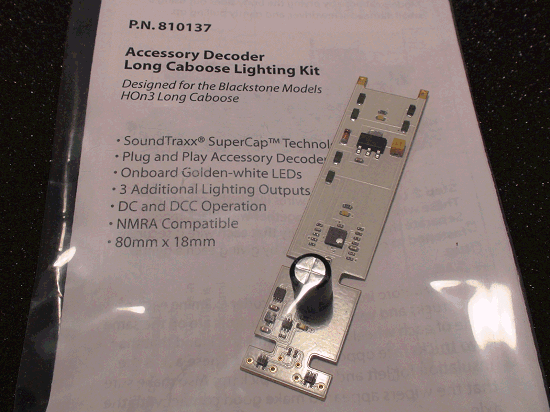 SOUNDTRAXX PN 810137 LONG CABOOSE LIGHTING KIT ACCESSORY DECODER