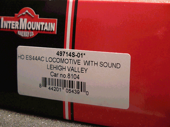 ES44AC LEHIGH VALLEY Cab 8104 Sound Locomotive