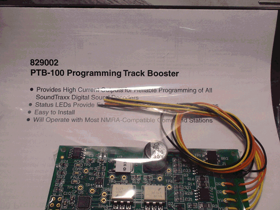 TSUNAMI SOUNDTRAXX PTB-100 PN 829002 PROGRAMMING TRACK BOOSTER