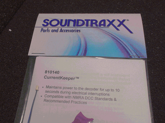 SOUNDTRAXX PN  810140 CURRENTKEEPER MAINTAINS DECODER PERFORMANCE