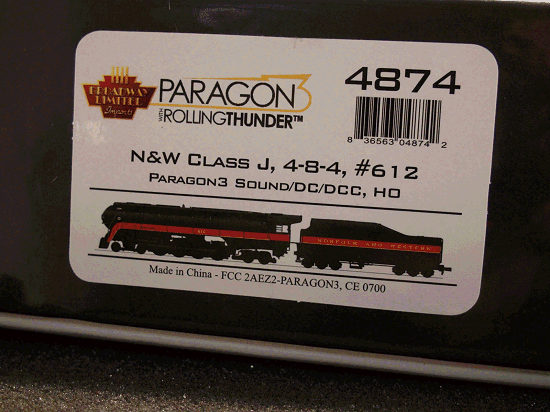 HO BROADWAY LIMITED 4875 N&W Class J, 613, In-Service Version, Paragon3 Sound