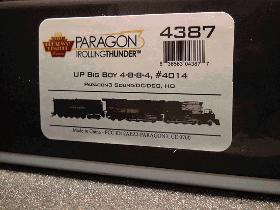 HO-BROADWAY LIMITED BLI 4387 UP BIG BOY 4-8-8-4 #4014 , Paragon3 Sound/DC/DCC