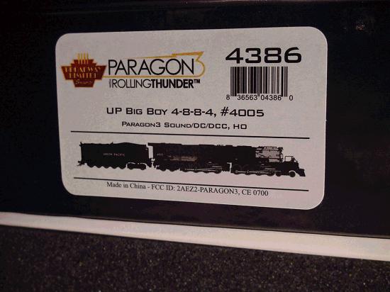 HO-BROADWAY LIMITED BLI 4386 UP Big Boy 4005, Denver Museum Version 25-C-400