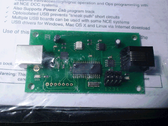 NCE DCC USB INTERFACE BOARD  05240223