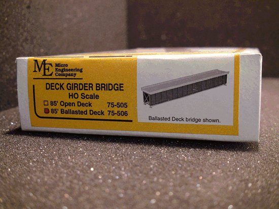 Micro- Engineering 75-506 HO SCALE DECK GIRDER BRIDGE 85' BALLASTED DECK