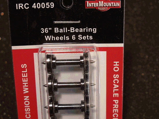 HO-INTERMOUNTAIN IRC 40059 BALL BEARING WHEELS 36 INCH