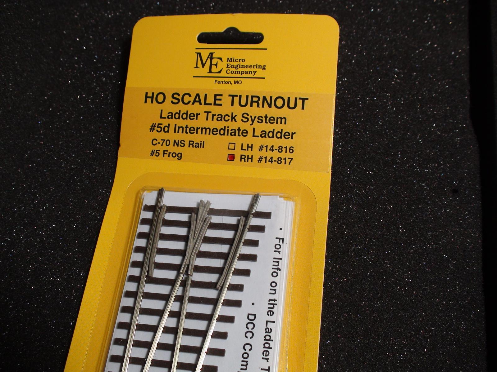 HO LADDER TRACK SYSTEM TURNOUT RH 5d