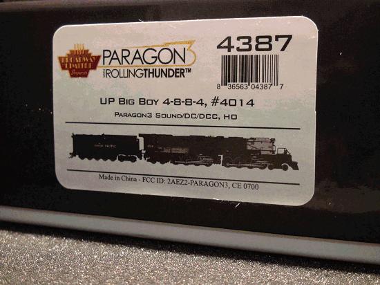 HO-BROADWAY LIMITED BLI 5676 UP BIG BOY 4-8-8-4 #4014 , Paragon3 Sound/DC/DCC